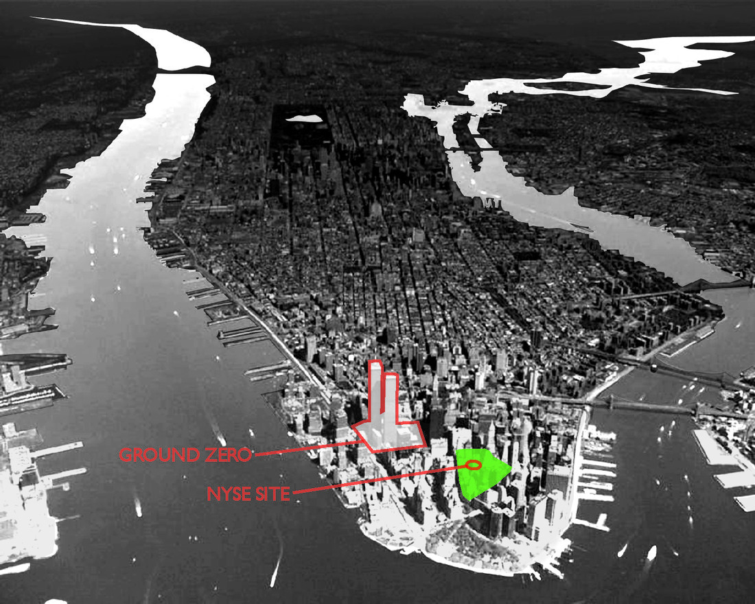 NYSE Aerial Site Photo NYC 2000 BW